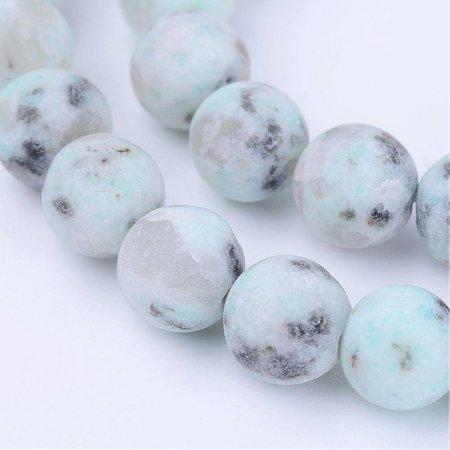 55 pieces Sesame Jasper Beads Mint 6mm