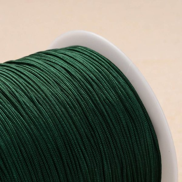 Macramedraad Donker Groen 1mm, 5 meter