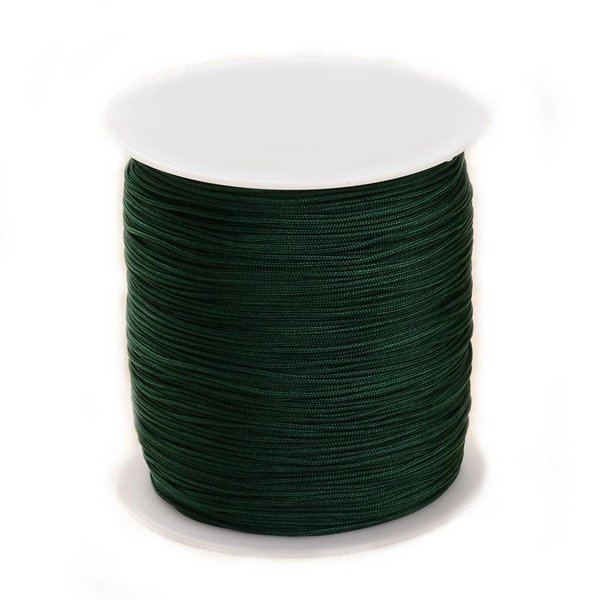Macramecord Dark Green 1mm, 5 meter