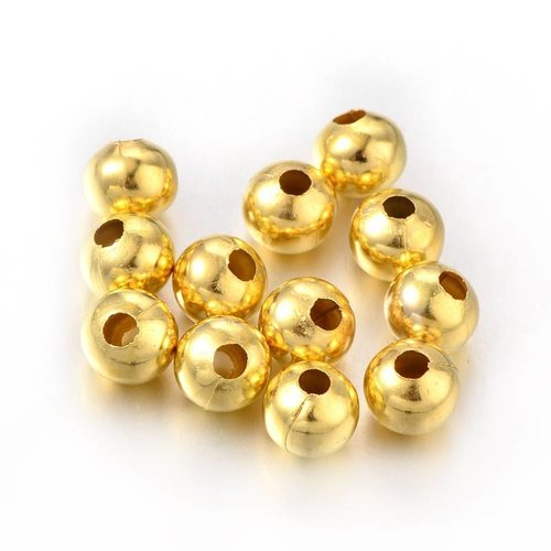 20 Pieces Gold Spacer Beads 8mm