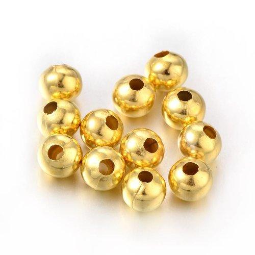 20 Stuks Spacer Beads Goud 8mm