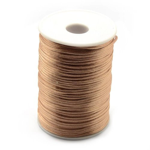 Satin Cord Camel 2mm, 3 meter