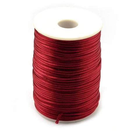 Satin Cord Wine Red 2mm, 3 meter