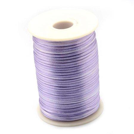Satin Cord Lilac 2mm, 3 meter