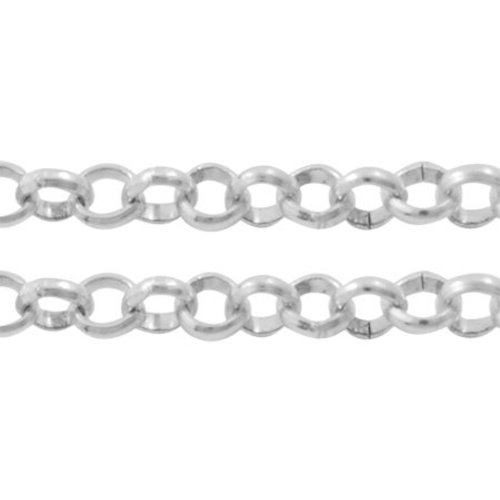 1 meter Rolo Chain Silver 2.5mm