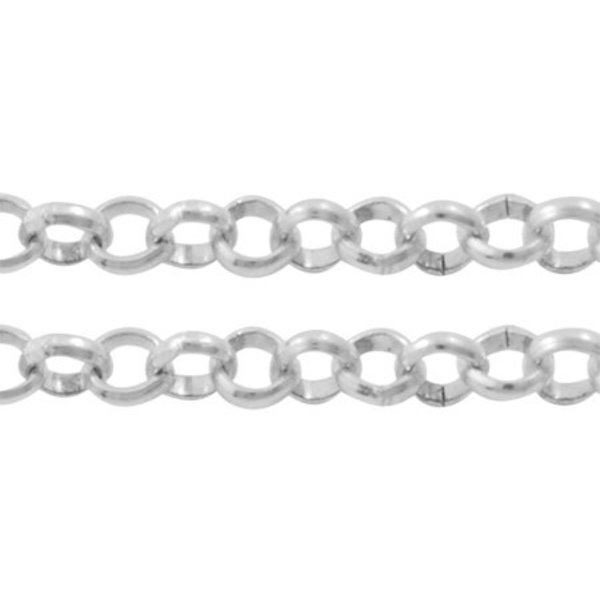 Rolo Chain Silver 2.5mm, 1 meter