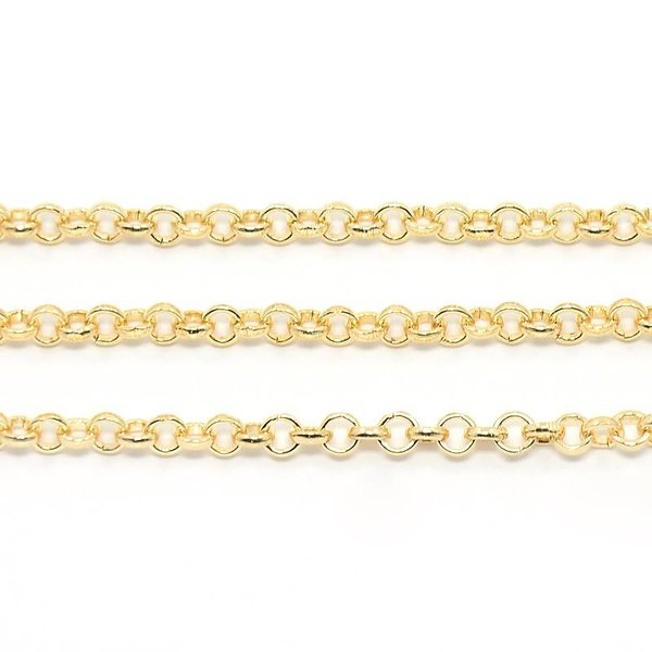 Rolo Chain Light Gold 4mm, 1 meter