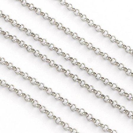 Stainless Steel Chain Silver 3mm, 1 meter