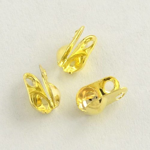 20 pieces Knot Covers Gold 6x4mm