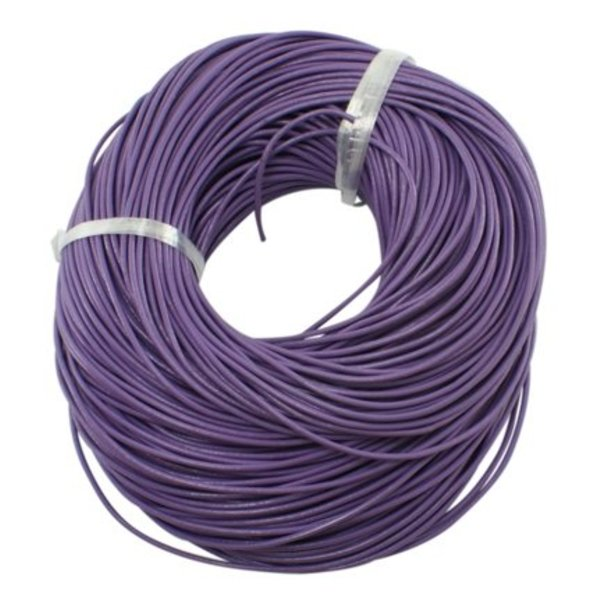 Cowhide Leather Cord 2mm Purple, 3 meter
