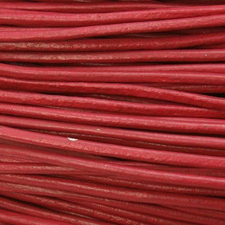 3 meters DQ Leather 1mm Deep Pink