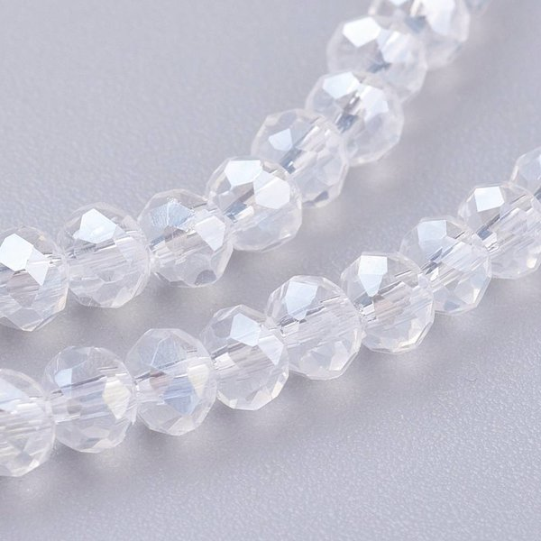 Crystal Shine facet beads 4x3mm, 80 pieces
