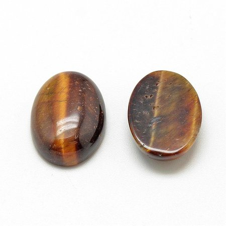 Natural Tiger Eye Cabochon 18x13x5mm