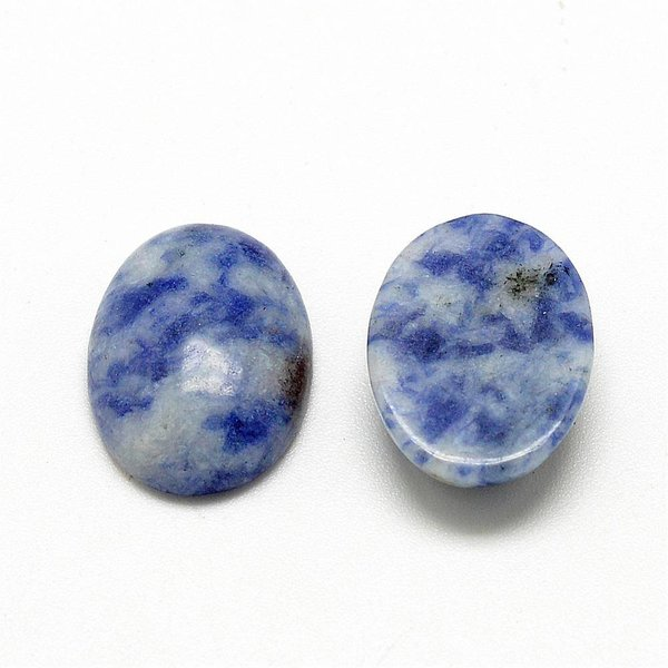 Natural Blue Spot Stone Gemstone Cabochon 18x13x5mm