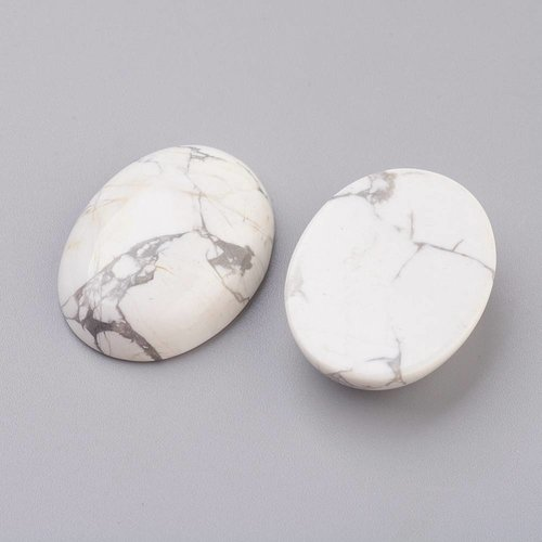 Natural Howlite Cabochon 18x13x5mm