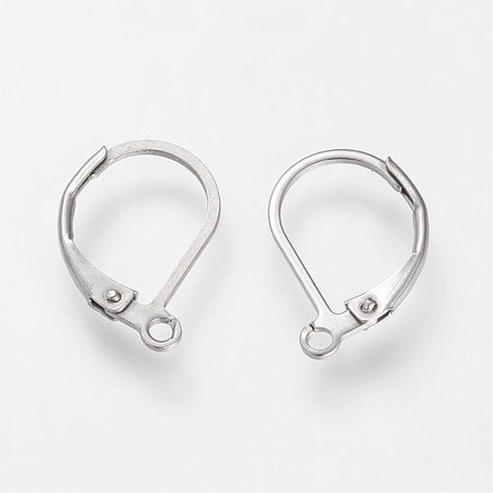 6 pieces Stainless Steel Earring Hooks 16x10mm