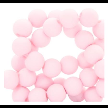 200 stuks Matte Acryl Kralen Licht Roze 4mm