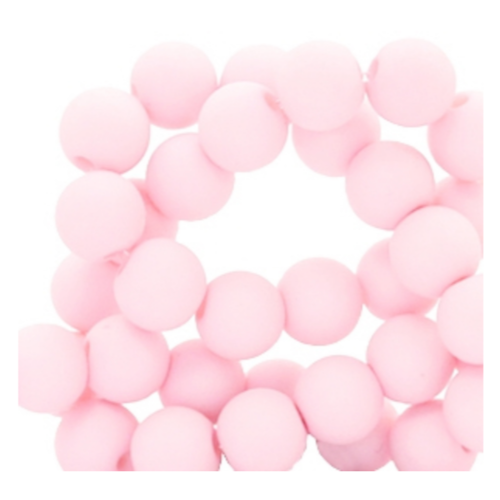 200 pieces Matte Light Pink Acrylic Beads 4mm