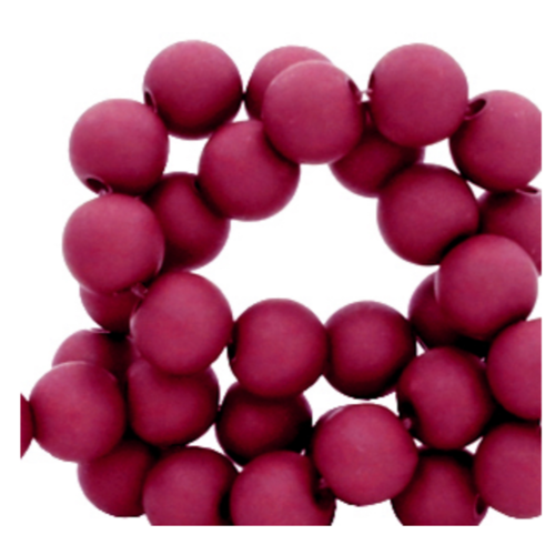 200 pieces Matte Wine Red Acrylic Beads 4mm