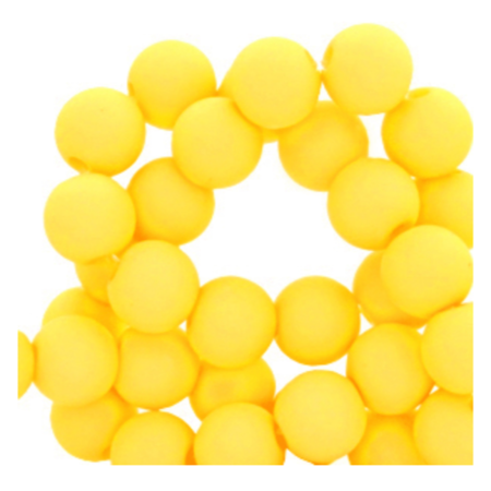 200 pieces Matte Yellow Acrylic Beads 4mm