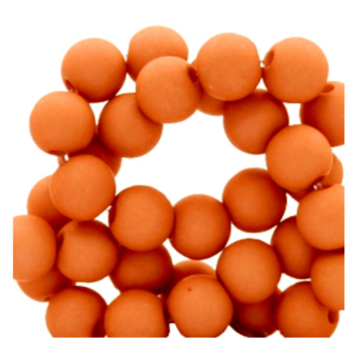 200 pieces Matte Terracotta Acrylic Beads 4mm