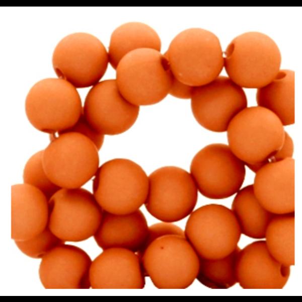 200 pieces Matte Terracotta Acrylic Beads 4mm