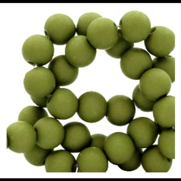 200 stuks Matte Acryl Kralen Groen 4mm