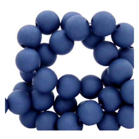 200 pieces Matte Dark Blue Acrylic Beads 4mm