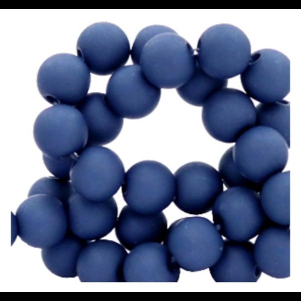 200 pieces Matte Dark Blue Acrylic Beads 4mm