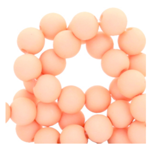100 pieces Matte Salmon Acrylic Beads 6mm