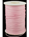 Light pink wax cord 1mm, 3 meter