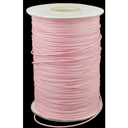 3 meter Light pink wax cord 1mm