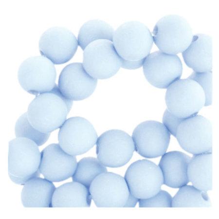 100 pieces Matte Pastel Blue Acrylic Beads 6mm