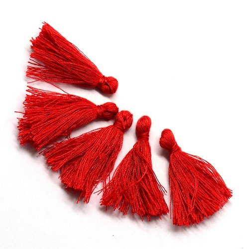 Tassel Red 30mm, 5 pieces