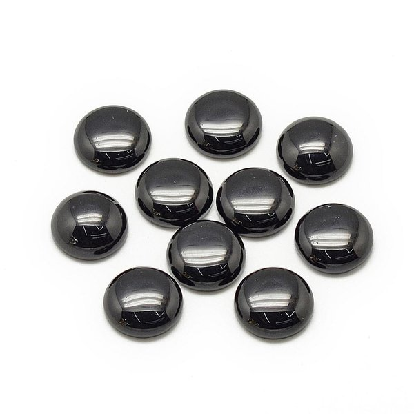 Natural Black Stone Edelsteen Cabochon 10mm
