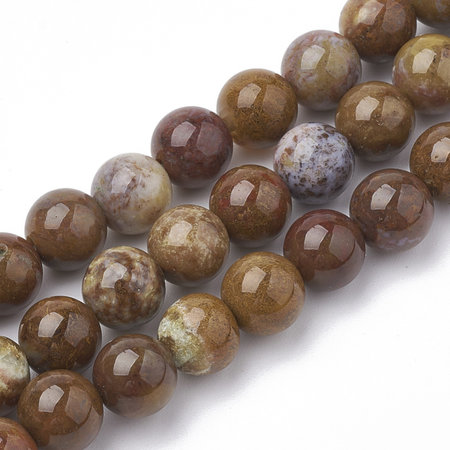 Natural Jade Beads 6mm, strand 56 pieces