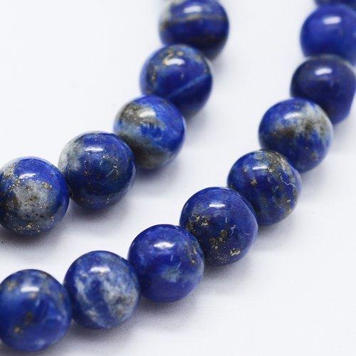 Natural Lapis Lazuli Beads 6mm, strand 63 pieces