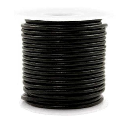 1 meter DQ Leer 3mm Zwart