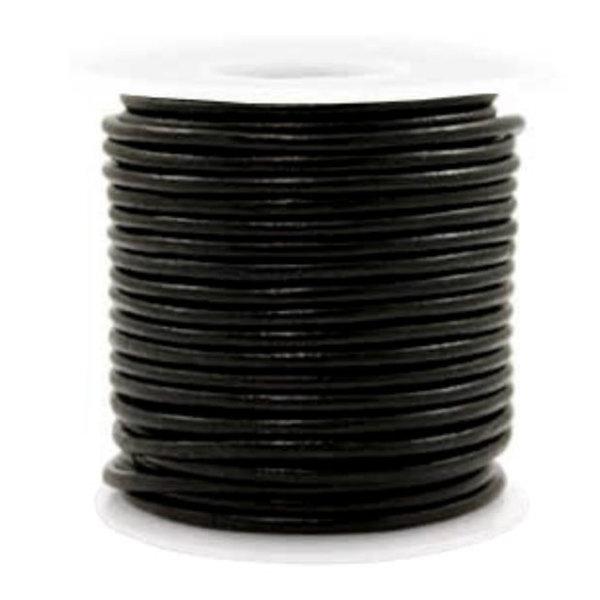 DQ Leer 3mm Zwart, 1 meter