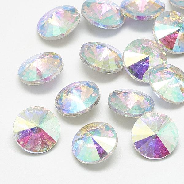 Rivoli Puntsteen 12mm Crystal