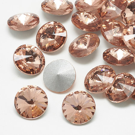 Rivoli Pointstone 12mm Peach