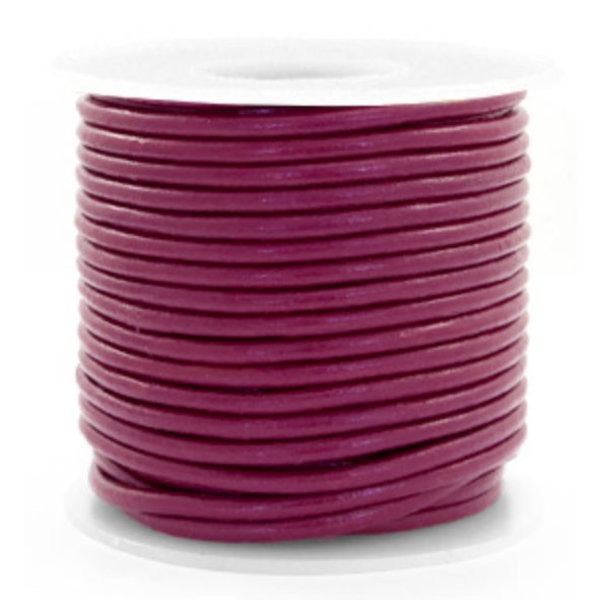 DQ Leather 3mm Wine Red, 1 meter