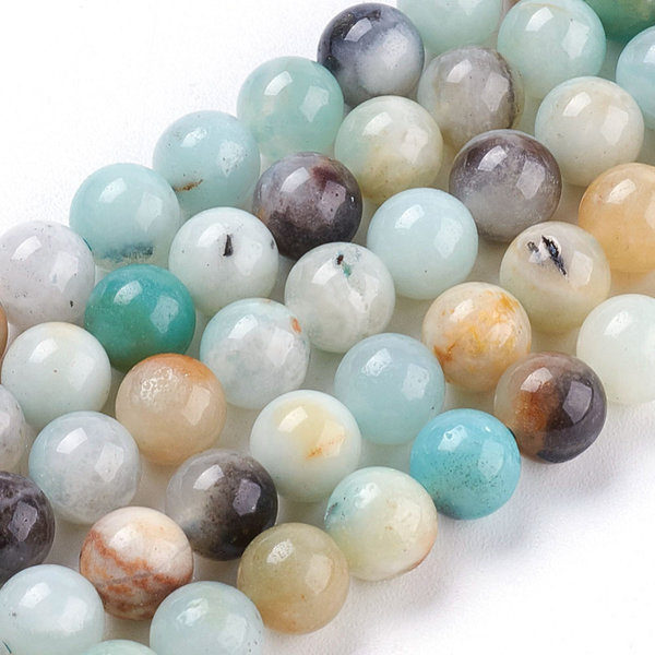 Natural Amazonite Gemstone Beads 6mm, strand 63 pieces