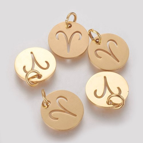 Stainless Steel Aries Charm 12mm