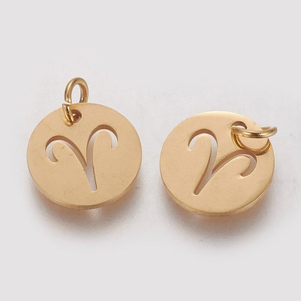 Stainless Steel Zodiac Charm Aries 12mm