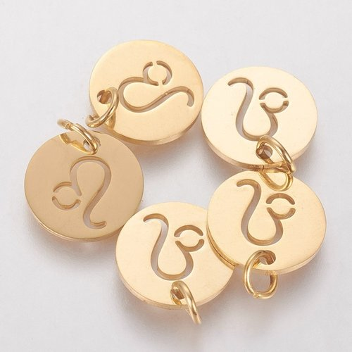 Stainless Steel Leo Charm 12mm