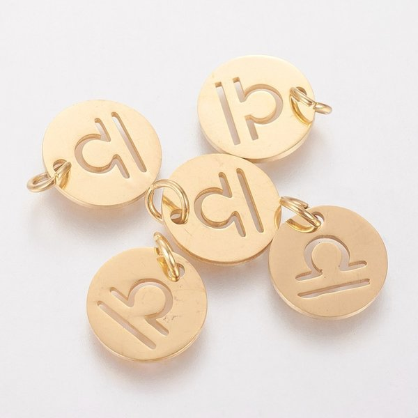 Stainless Steel Zodiac Charm Libra 12mm