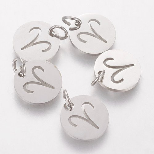 Stainless Steel Aries Charm Silver 12mm