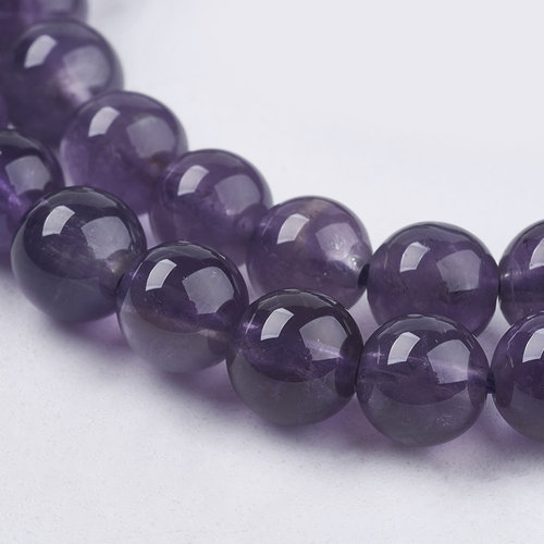 Natural Amethyst Grade AB Beads 6mm, strand 63 pieces