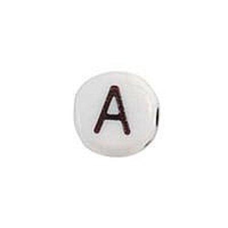 25 pieces Alphabet Bead A
